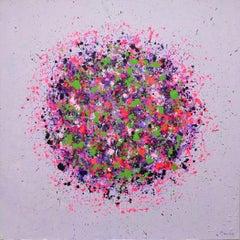 Petal Burst 32, Painting, Acrylic on Canvas