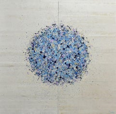 Petal Burst 36 (Diptych), Painting, Acrylic on Wood Panel