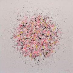 Petal Burst 37, Painting, Acrylic on Canvas