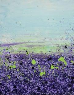 Purple Prairie Clover, Painting, Acrylic on Canvas