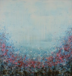 Red Blossom, Abstract Painting