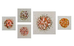 Set of 5 abstract paintings, Painting, Acrylic on Wood Panel
