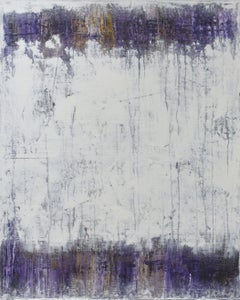 White Purple, Painting, Acrylic on Canvas