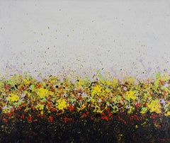 Yellow Field, Abstract Painting