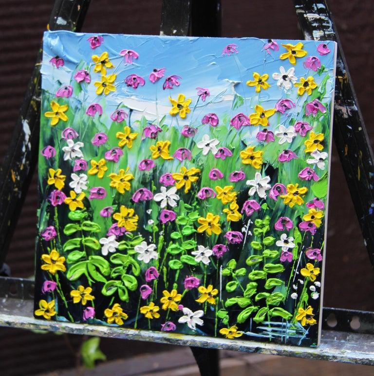 Garden of Mine - Painting by Lisa Elley