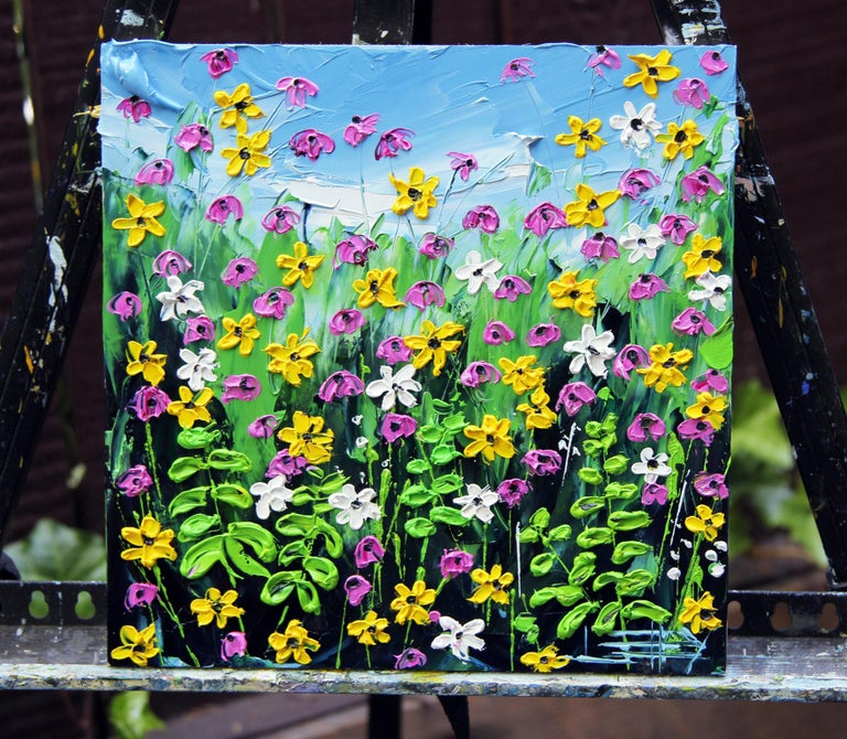Garden of Mine - Contemporary Painting by Lisa Elley