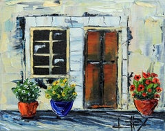 Giardino Italiano, oil painting on stretched canvas