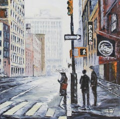 New York State of Mind Lisa Elley Oil painting on stretched canvas
