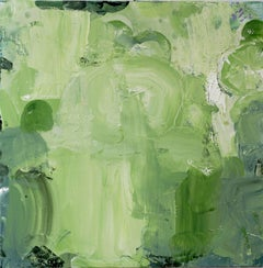Bahia, lime green abstract expressionist painting, broad brushstrokes