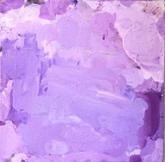 "Lush for Life, purple abstract expressionist painting on canvas, 36"" x 36"""