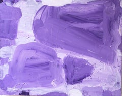 Rock Steady, bright purple abstract expressionist painting on canvas