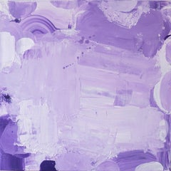 Violet in Violet, purple and lilac abstract expressionist painting