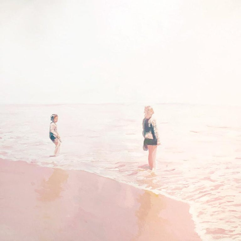 Lisa Golightly Landscape Painting - Pink Shore