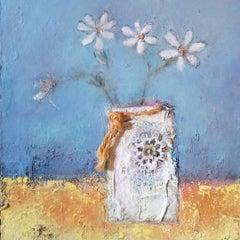 Lisa House, Beach Daisies, Still Life Art, Buy Art Online
