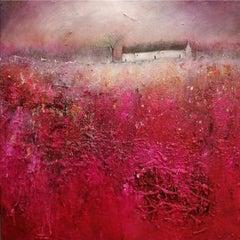 Lisa House, Indian Summer, Original Landscape Painting, Affordable Art