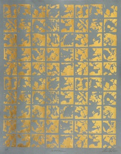 Abstract Various (design gold grey metallic work on paper abstract patterns)