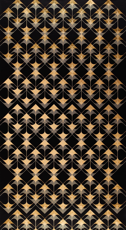 Crossing Arrows Black (design gold black work on paper patterns Art deco)