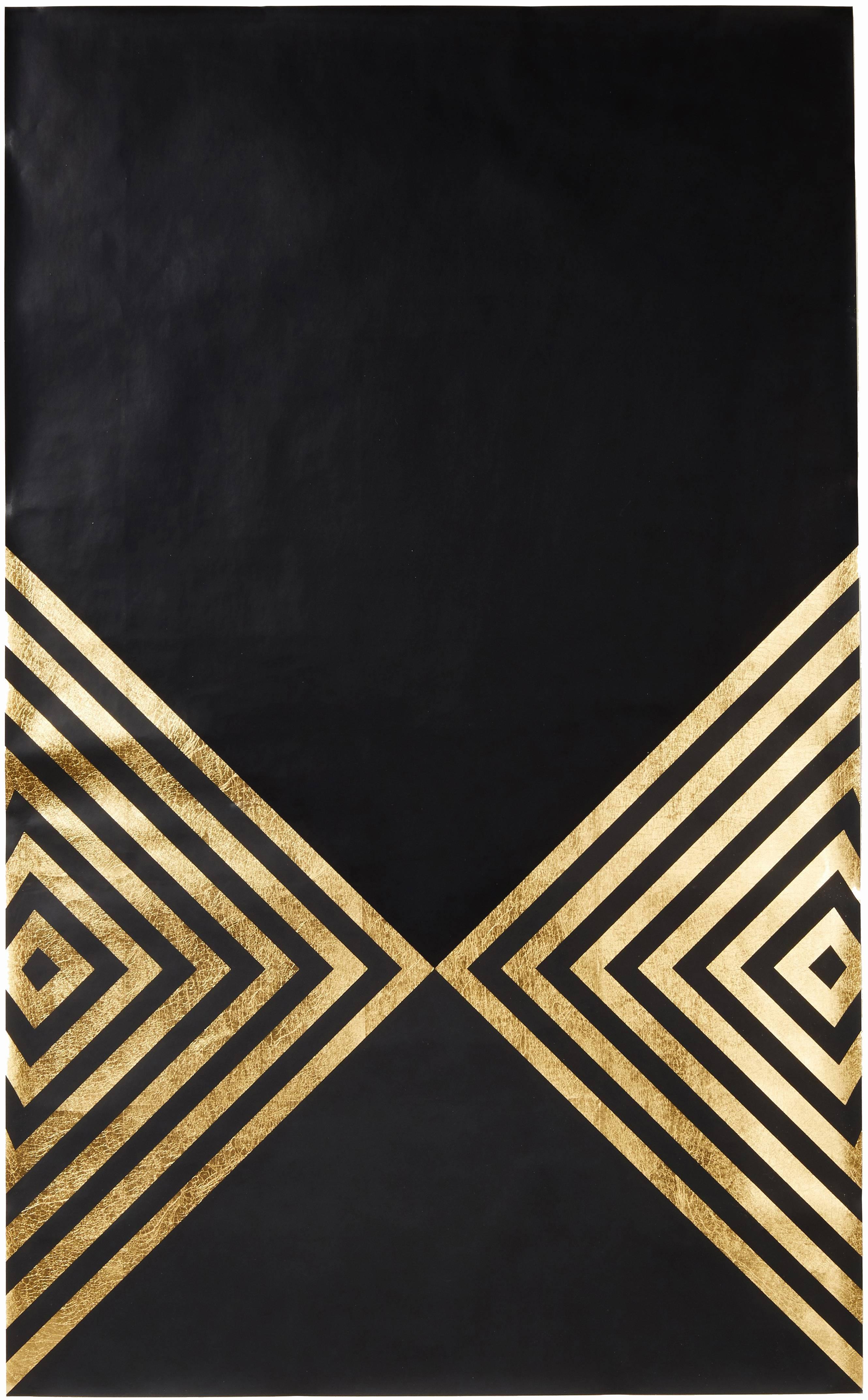 Hunt Arrows (design gold black metallic work on paper gold stripes Art Deco)