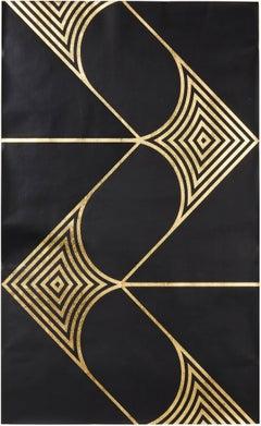 Hunt Arrows III (gold black art deco paper modern design patterns)