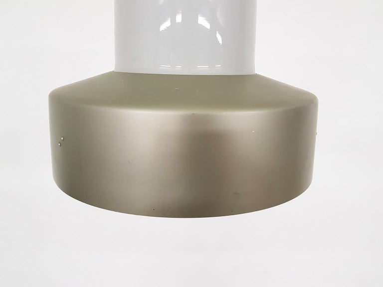 Lisa Johansson-Pape 61-013 Glass and Metal Pendant Light for Orno, Finland, 1961 In Good Condition For Sale In Amsterdam, NL