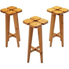 Lisa Johansson-Pape Bar Stools in Solid Pine