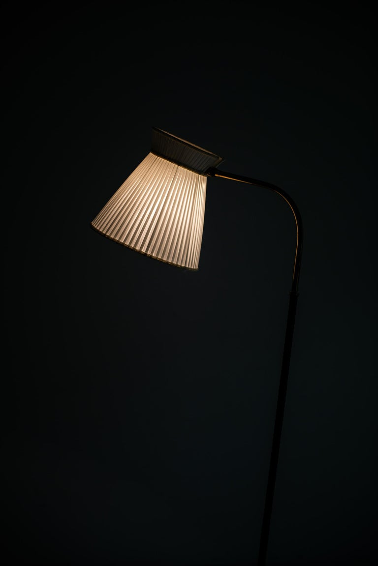 Brass Lisa Johansson-Pape Floor Lamp by Orno in Finland For Sale
