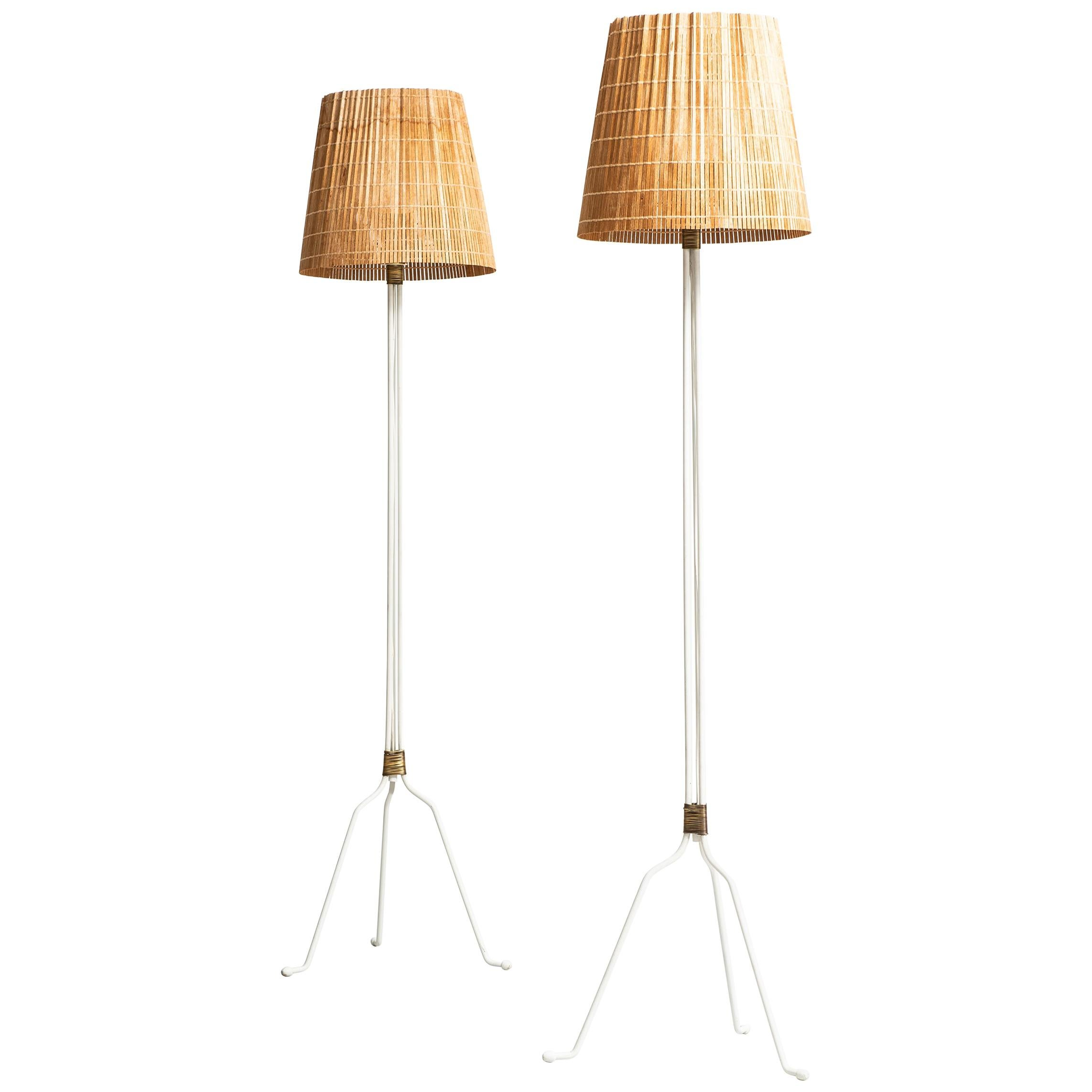 Lisa Johansson-Pape Floor Lamps Model 30-058 by Orno in Finland