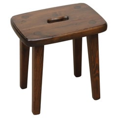 Lisa Johansson-Pape Inspired Stool with Square Cut Out