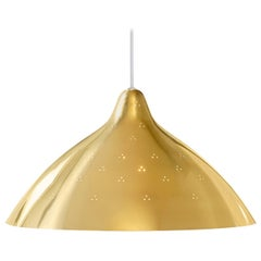 Lisa Johansson-Pape Large Polished Brass Perforated Metal Pendant