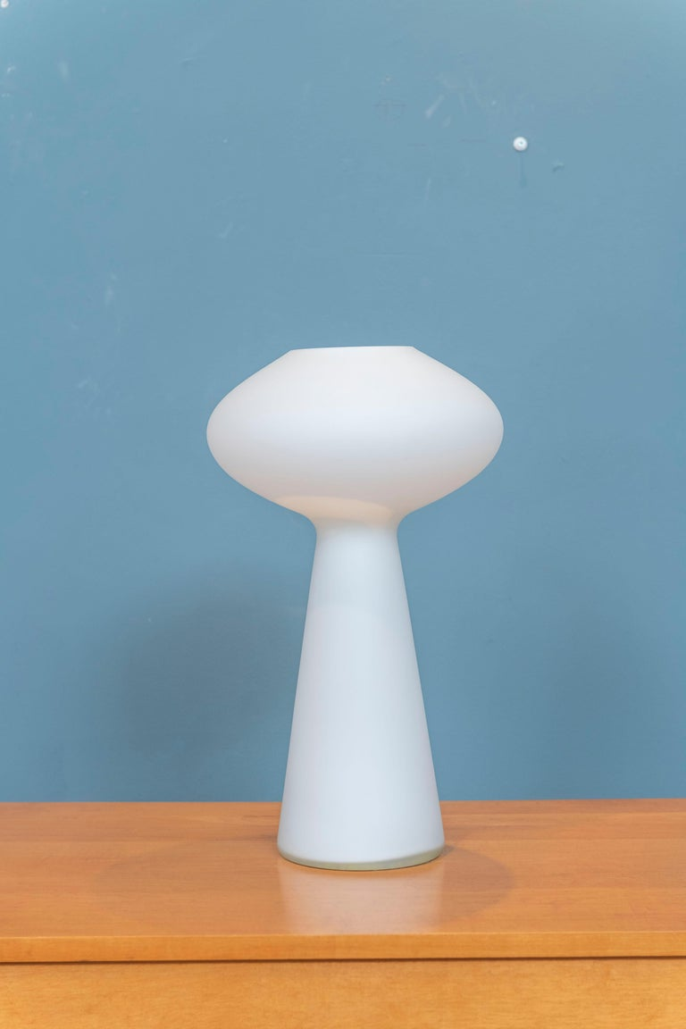 Lisa Johansson-Pape Opaque Glass Lamp In Good Condition For Sale In San Francisco, CA