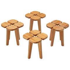 Lisa Johansson-Pape Set of Four 'Apila' Stools