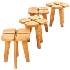 Lisa Johansson-Pape Stools Model Apila Produced by Stockmann Oy in Finland