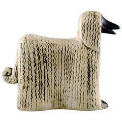Lisa Larson ceramic figure of Afghan Dogs/Afghan Hound.