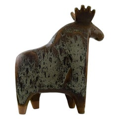 Lisa Larson for Gustavsberg, Large Moose in Glazed Ceramics, 1970s