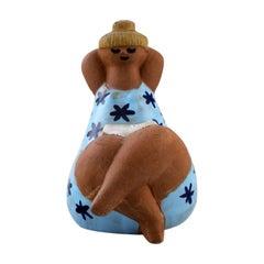 "Lisa Larson for Gustavsberg, Stoneware Figure ""Emma"", 1970s"
