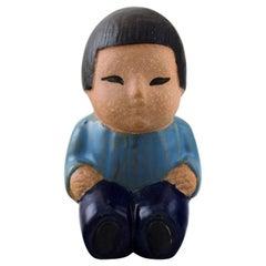 """Lisa Larson for Gustavsberg, Stoneware Figure from """"All the World's Children"""""""