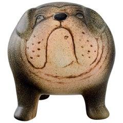 Lisa Larson for K-Studion/Gustavsberg, Bulldog in Glazed Ceramics, 20th Century