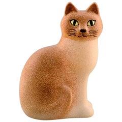 Lisa Larson for K-Studion / Gustavsberg, Cat in Glazed Ceramics, 20th Century