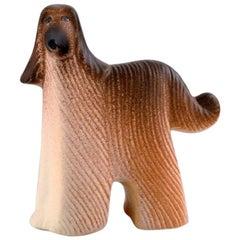 Lisa Larson for K-Studion / Gustavsberg, Dog in Glazed Ceramics, 20th Century