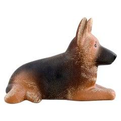 Lisa Larson for K-Studion / Gustavsberg, German Shepherd in Glazed Ceramics