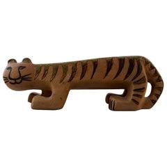Lisa Larson Gustavsberg Large Tiger/Cat in Ceramics, 1960s-1970s