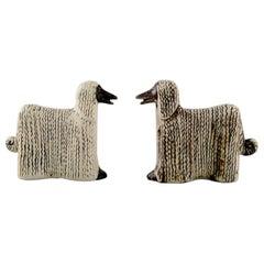 Lisa Larsson Ceramics, 2 Afghan Dogs, Afghan Hound