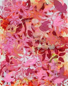 Jungle Fever Pink No 1, vibrant pink floral abstract by Liza Petker Mintz