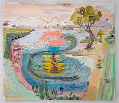 Emigrant Lake, 2017 - Lisa Sanditz (Landscape Painting)