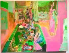 Grandma's Got A Gun, 2020 - Lisa Sanditz (Landscape Painting)