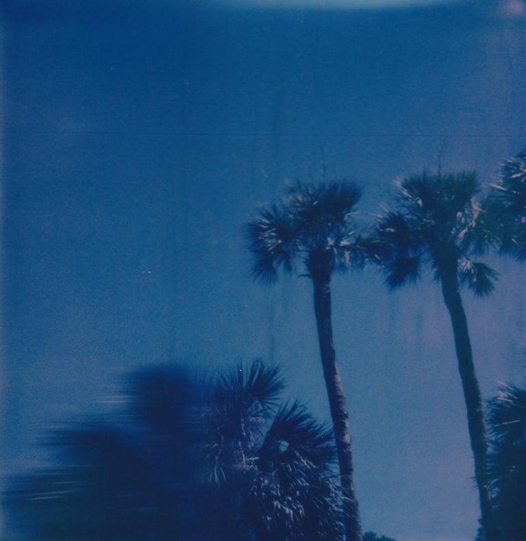 Lisa Toboz Portrait Photograph - Vacation - Contemporary, Woman, Polaroid, Palm Trees, 21st Century, Color