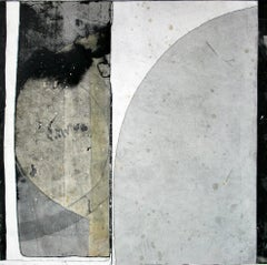 Grey Arc by Lisa Weiss, Black and White Contemporary Paper Artwork