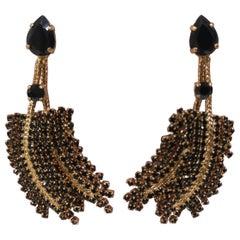 LisaC black swarovski earrings