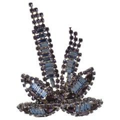 Lisac blue swarovski palm brooch