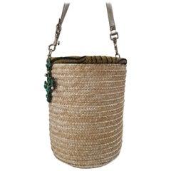 LisaC Cactus raffia shoulderbag